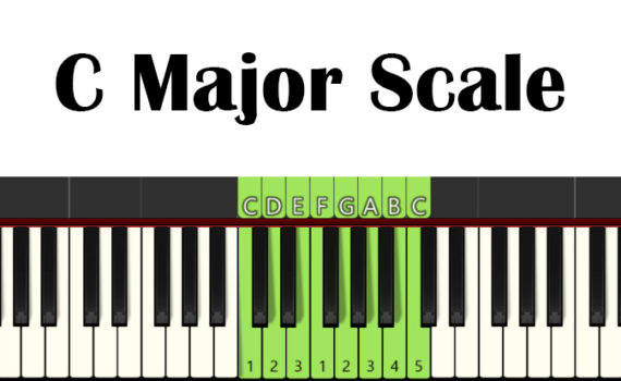 C Major Piano Scale With Fingering